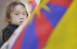 10 upprordag 2017 för mars i Tibet, Bern switzerland Royaltyfria Foton