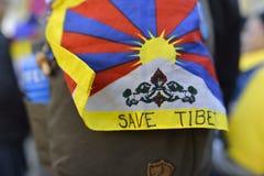 10 upprordag 2017 för mars i Tibet, Bern switzerland Arkivbild
