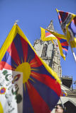10 upprordag 2017 för mars i Tibet, Bern switzerland Royaltyfri Foto