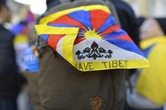 10 upprordag 2017 för mars i Tibet, Bern switzerland Royaltyfri Fotografi