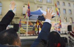 10 upprordag 2017 för mars i Tibet, Bern switzerland Royaltyfria Bilder
