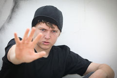 upproriskt teen för pojke Royaltyfri Foto
