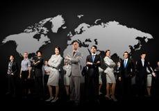 uppröra för händer för affärsmanbusinesspeoplegrupp Royaltyfri Foto