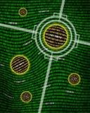 uppsätta som mål bryta spheres för binära data Arkivbilder