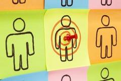 Uppsätta som mål dina klibbiga anmärkningar för kunder Royaltyfri Bild