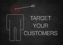 Uppsätta som mål dina kunder Arkivfoton