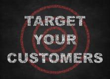 Uppsätta som mål dina kunder Royaltyfri Fotografi