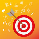 Uppsätta som mål kundhuvudet vara besvärad affären för begreppet för marknadsföringen för nischmålmarknaden vektor illustrationer