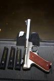 Uppsätta som mål pistolen Royaltyfri Foto