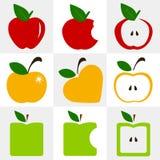 Uppsättning av äpplevektorn Fotografering för Bildbyråer