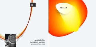 Uppsättning av abstrakt begreppmallar för modern design Idérik affärsbakgrund med färgglade vågor fodrar för befordran, baner fotografering för bildbyråer