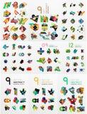 Uppsättning av abstrakt begrepppappersbeståndsdelar, infographics Royaltyfri Bild