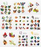 Uppsättning av abstrakt begrepppappersbeståndsdelar, infographics Royaltyfria Foton