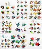 Uppsättning av abstrakt begrepppappersbeståndsdelar, infographics Royaltyfri Fotografi