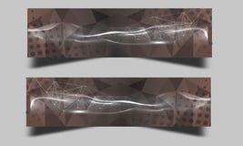 Uppsättning av abstrakta bakgrunder för titelrad för affärsvågbaner Royaltyfria Foton