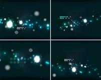Uppsättning av abstrakta bakgrunder med copyspace Arkivfoto
