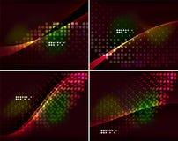 Uppsättning av abstrakta bakgrunder med copyspace Arkivfoton