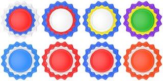 Uppsättning av abstrakta cirkeletiketter Arkivbild
