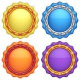 Uppsättning av abstrakta cirkeletiketter Royaltyfri Illustrationer