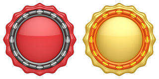 Uppsättning av abstrakta cirkeletiketter Stock Illustrationer