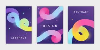 Uppsättning av abstrakta designbaner lutning också vektor för coreldrawillustration stock illustrationer