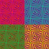 Uppsättning av 4 abstrakta färgrika bakgrunder för designen, vektorillustration Royaltyfria Foton