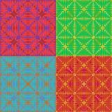 Uppsättning av 4 abstrakta färgrika bakgrunder för designen, vektorillustration Arkivbild