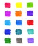 Uppsättning av abstrakta färgrika beståndsdelar Royaltyfri Bild