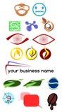 Uppsättning av abstrakta färgrika logoer Arkivfoton