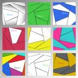 Uppsättning av abstrakta geometriska bakgrunder från remsor Royaltyfri Fotografi