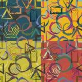 Uppsättning av abstrakta geometriska sömlösa modeller Royaltyfri Bild