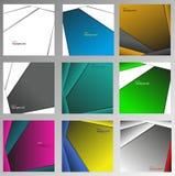 Uppsättning av abstrakta geometriska vektorbakgrunder Arkivbild