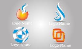 Uppsättning av abstrakta Logo Template Arkivfoto