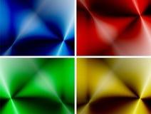 Uppsättning av abstrakta mångfärgade bakgrunder Arkivbild