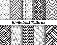 Uppsättning av 10 abstrakta modeller Arkivbilder