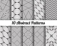 Uppsättning av 10 abstrakta modeller Royaltyfria Bilder