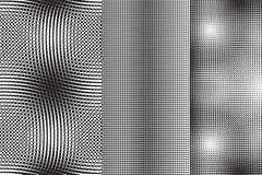 Uppsättning av 3 abstrakta modeller Arkivbild