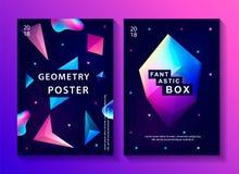 Uppsättning av abstrakta moderiktiga kosmiska affischer Arkivbild