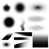 Uppsättning av abstrakta rastrerade bakgrunder Arkivbild