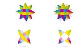 Uppsättning av abstrakta Sfär Logo Rounded Globle Circular Logo Mall Modern Företag Logo Symbol Vector Royaltyfria Bilder
