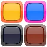 Uppsättning av abstrakta tomma knappar 3d Vektor Illustrationer
