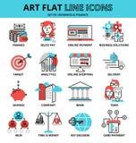 Uppsättning av affärs- och finanssymboler, för diagram- och rengöringsdukdesign Royaltyfri Fotografi