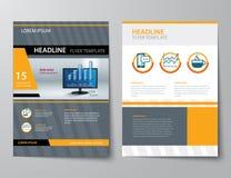 Uppsättning av affärstidskrifträkningen, reklamblad, broschyr vektor illustrationer