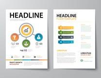 Uppsättning av affärstidskrifträkningen, reklamblad, tem för broschyrlägenhetdesign stock illustrationer