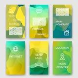 Uppsättning av affischen, reklamblad, broschyrdesignmallar Arkivbild