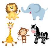 Uppsättning av afrikanska djur Royaltyfria Bilder