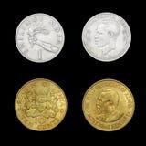 Uppsättning av afrikanska mynt Fotografering för Bildbyråer