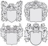 Uppsättning av aristokratiska emblem No6 Arkivbild