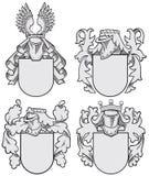 Uppsättning av aristokratiska emblem No9 Royaltyfri Foto