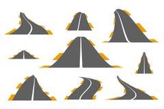 Uppsättning av asfaltvägar Arkivbilder